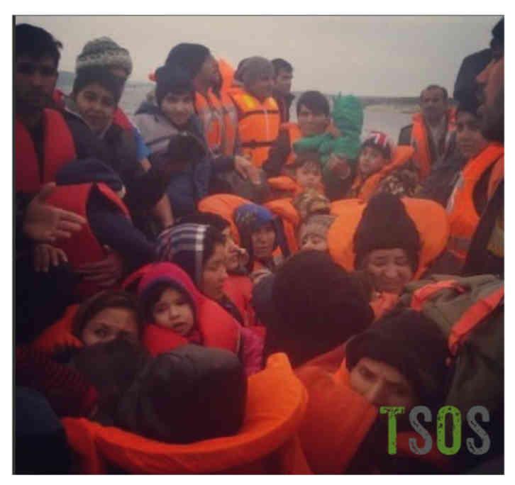 Overcrowded Boat W Wm
