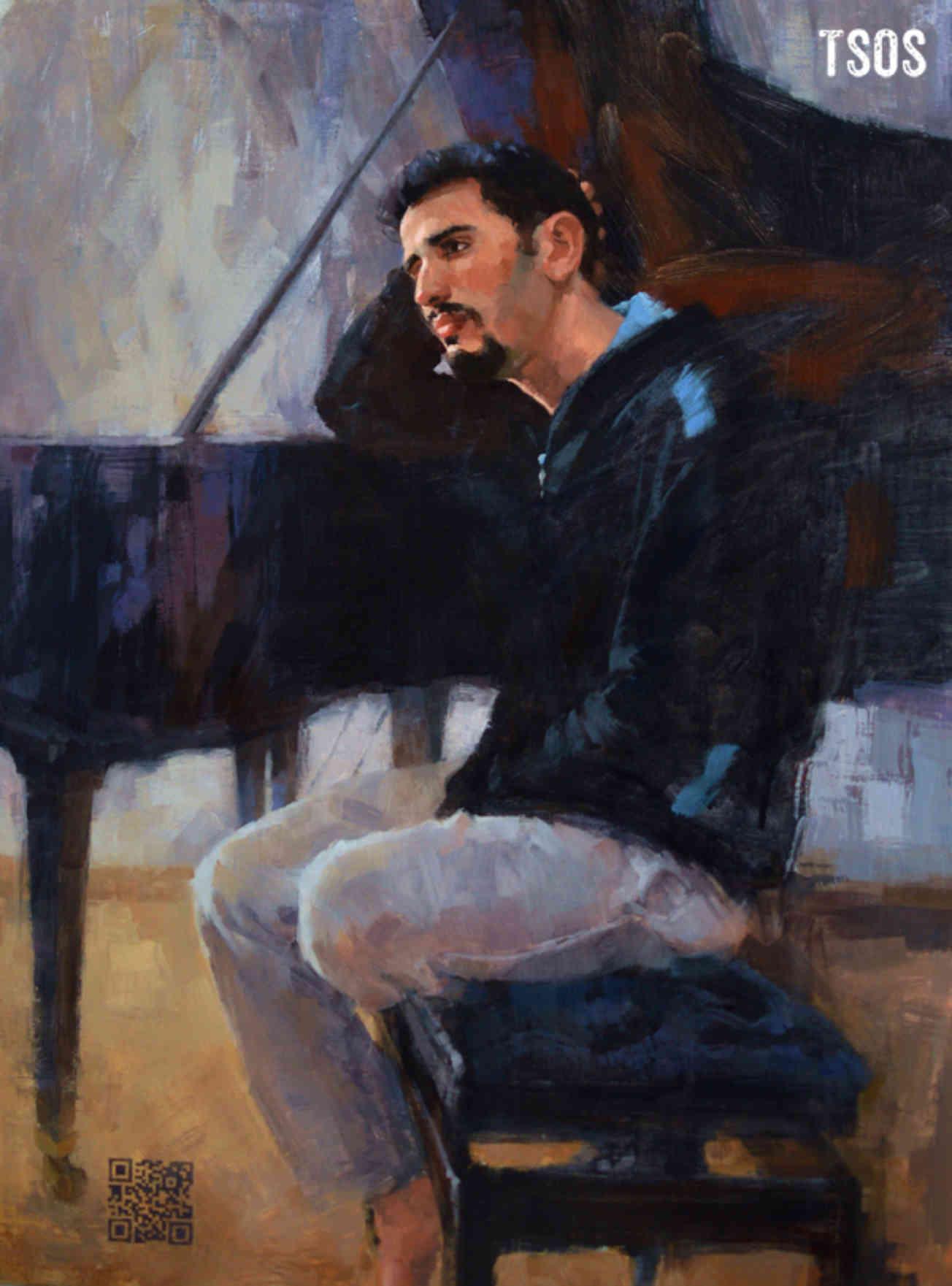 Aeham Ahmad Painting