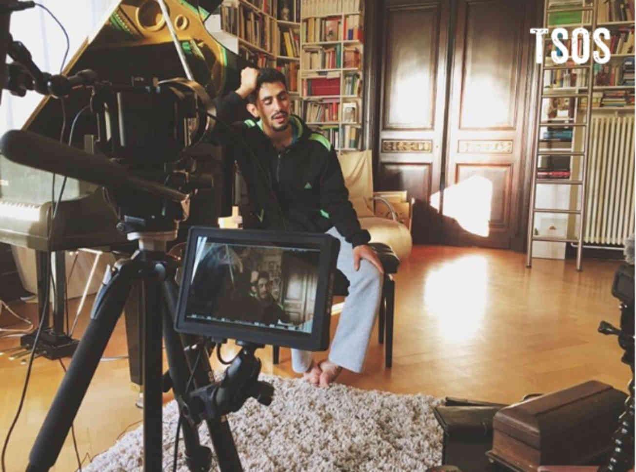 Aeham Being Interviewed