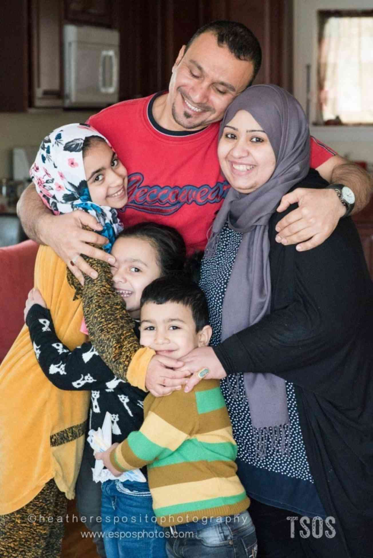 Mohaned and Zainab with their family