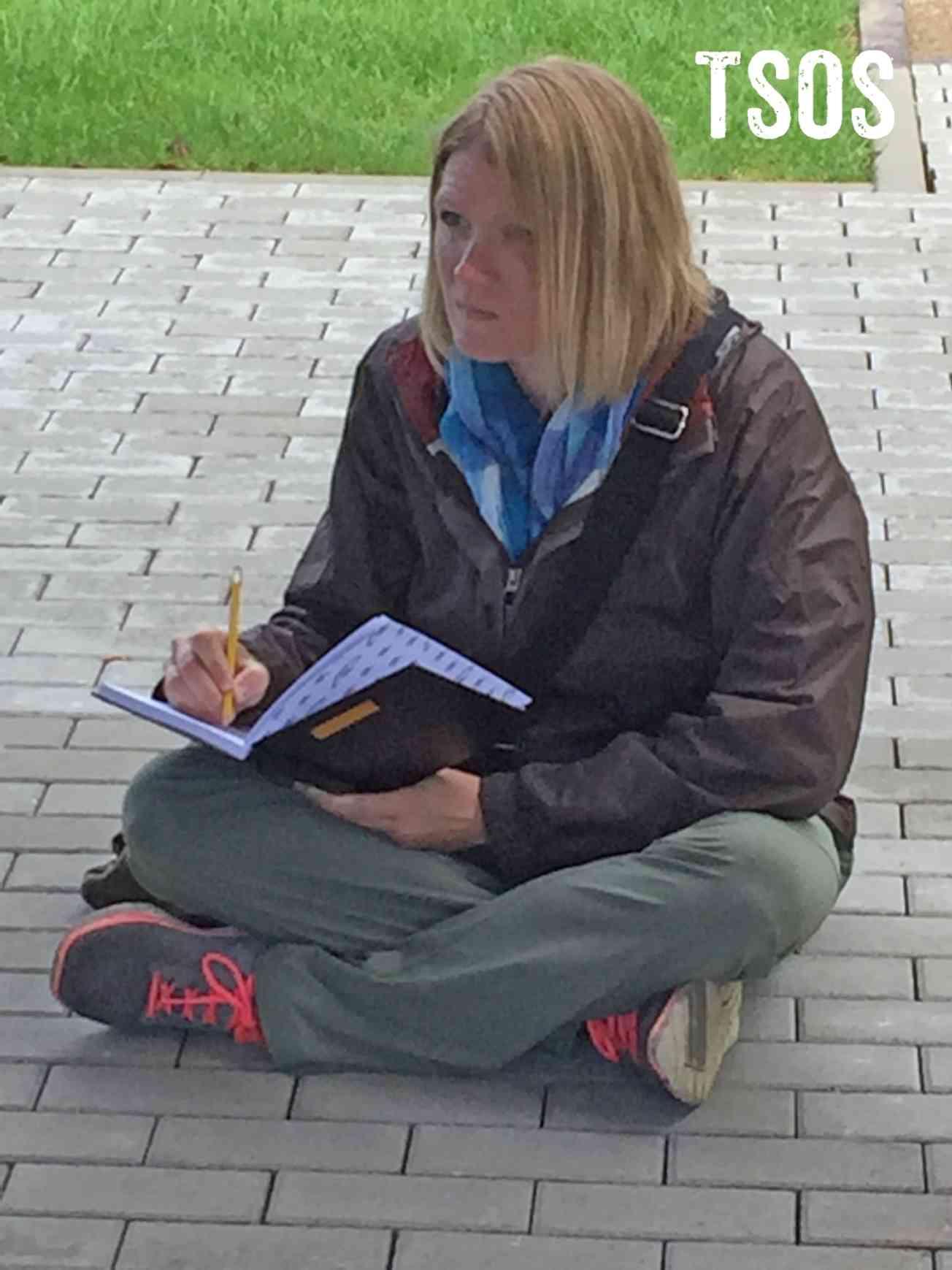Drawing Liz Sitting