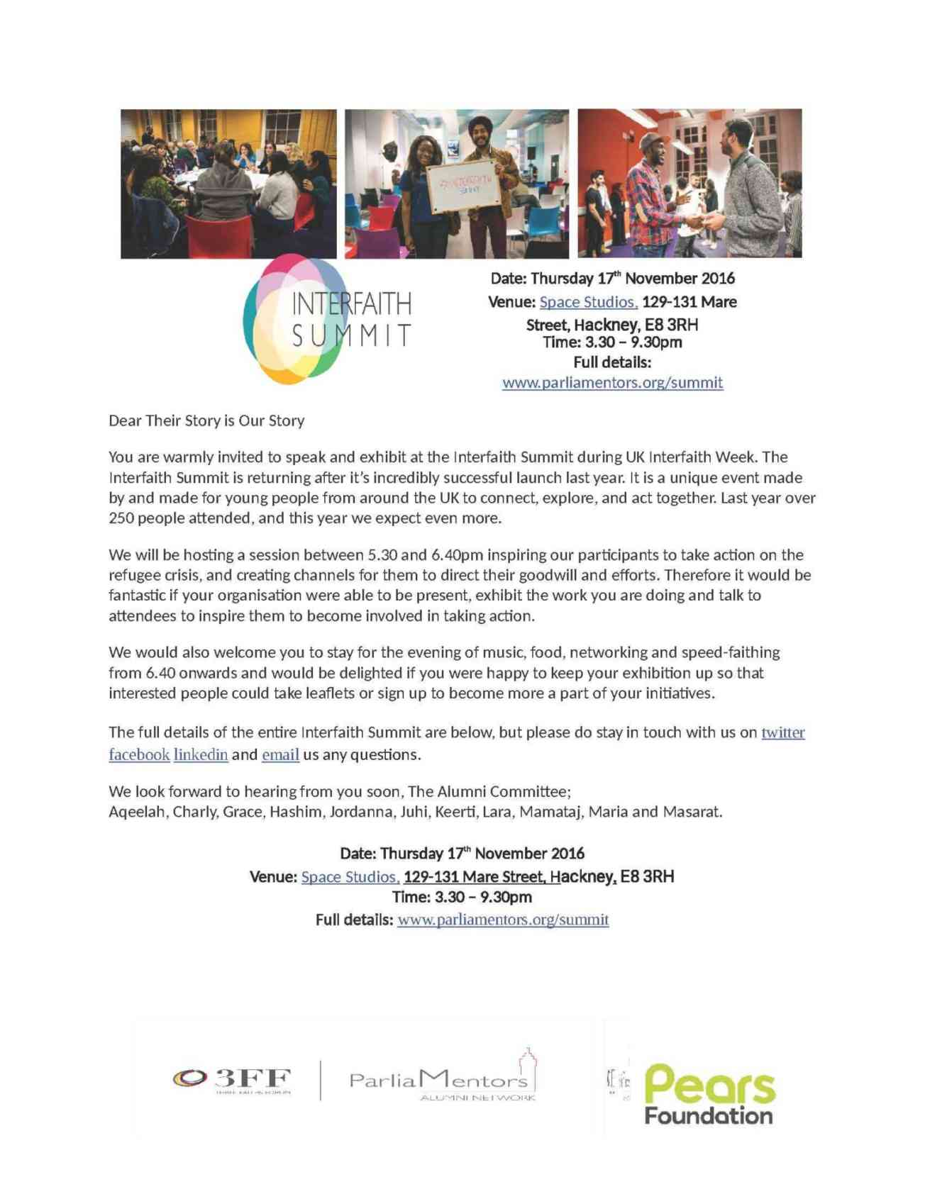 Interfaith Flyer