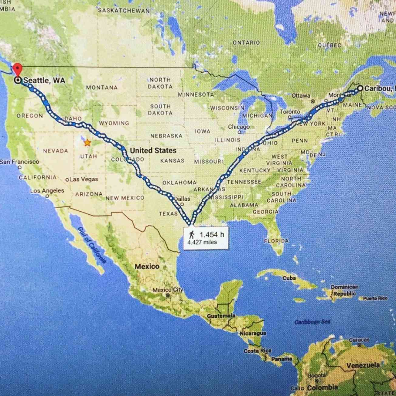 Maine To Houston To Seattle