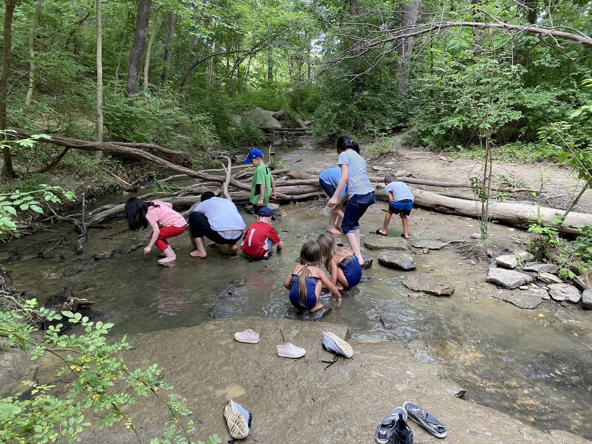 Playdate in the creek-KC 2020