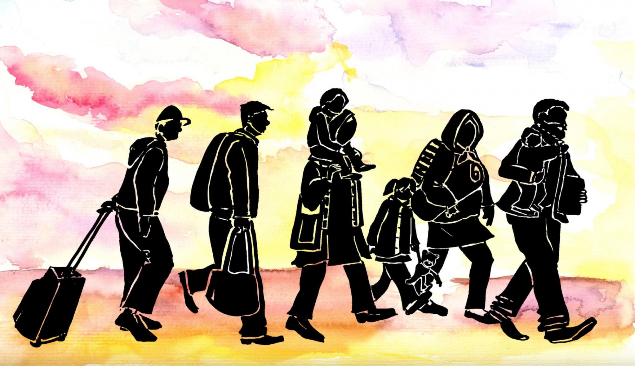 Refugee cartoon