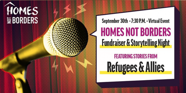 Homes Not Borders Storytelling event