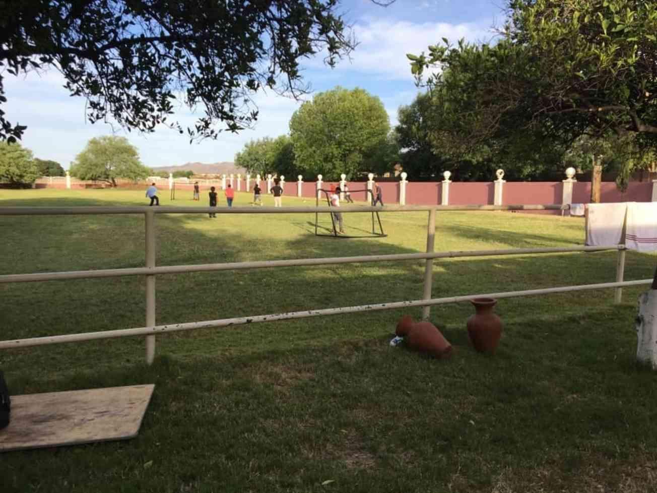 Playing Soccer At Ranch