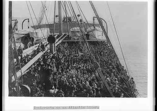 Immigrants On An Atlantic Liner