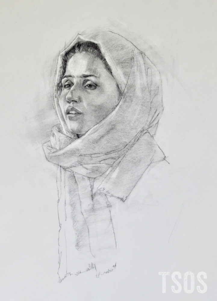 Zarrin drawing by Elizabeth Benson Thayer