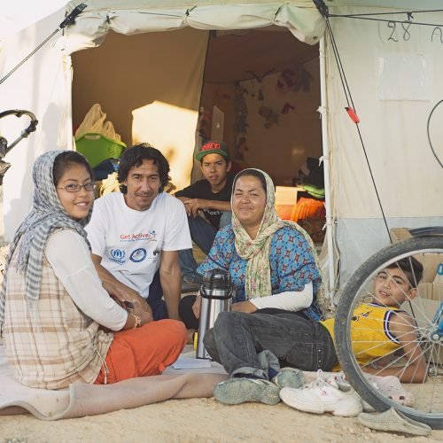 Linar and her family, from Afghanistan