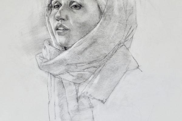 Zarrin drawing by Elizabeth Benson Thayer