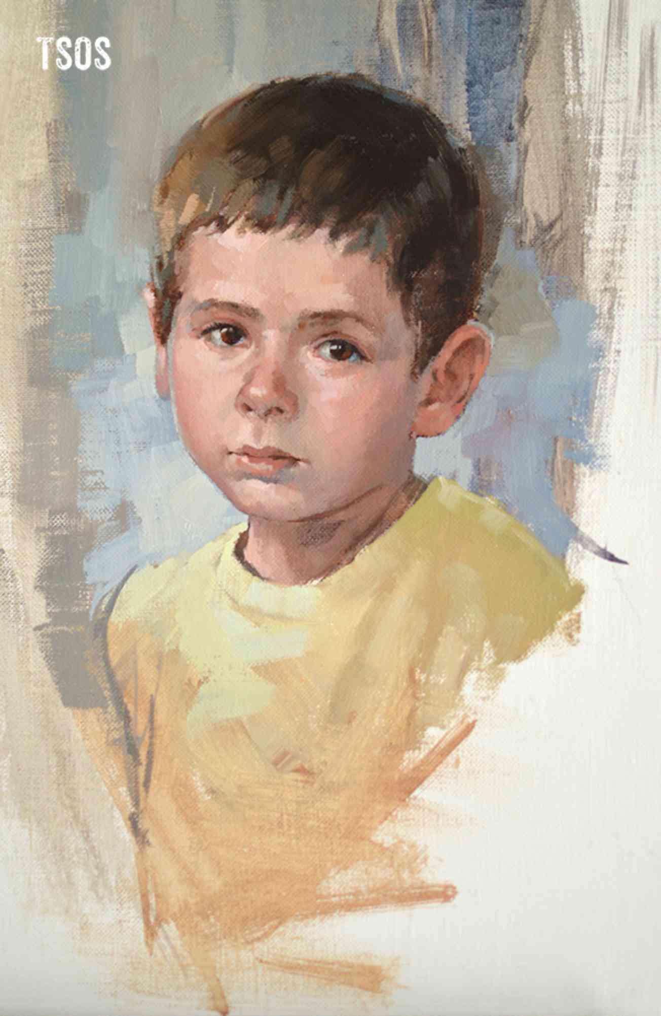 Refugee Child Painting