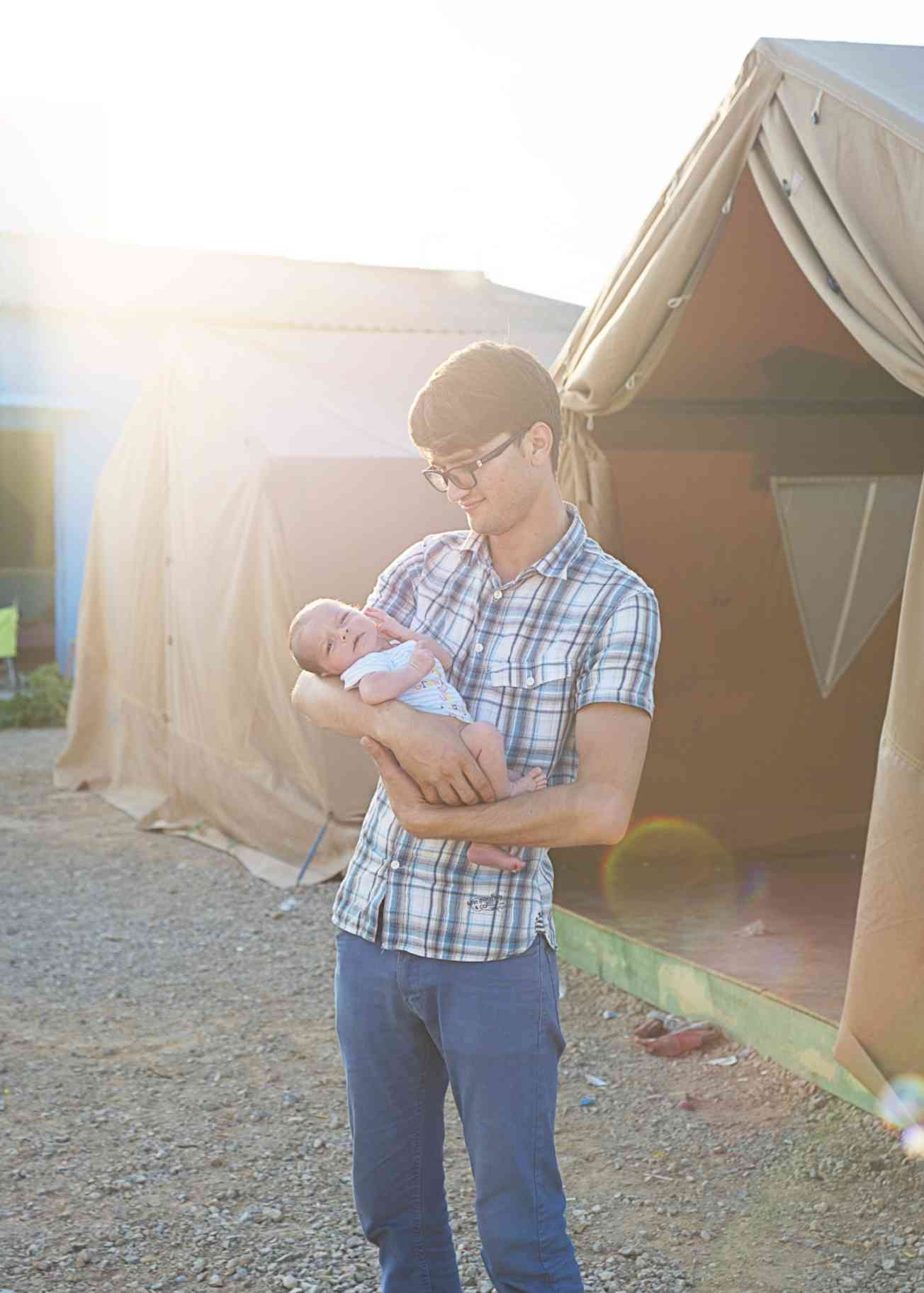 Ahmad and his child 2