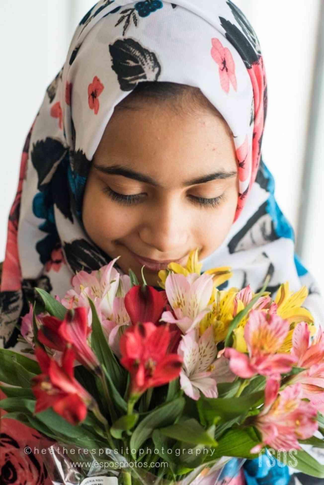 Tiba and flowers